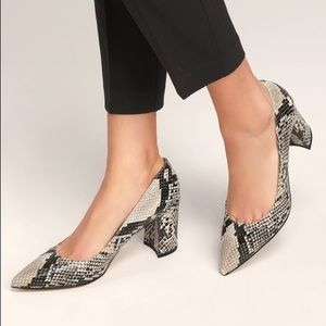 Marc Fisher Claire2 Snakeskin Classic Heel Pump